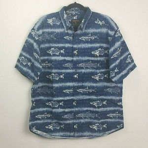 Woolrich Casual Fish Design Button Down Shirt